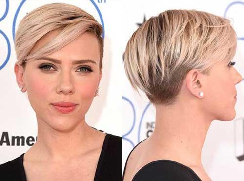 Scarlett Johansson Celebrity Short Hair