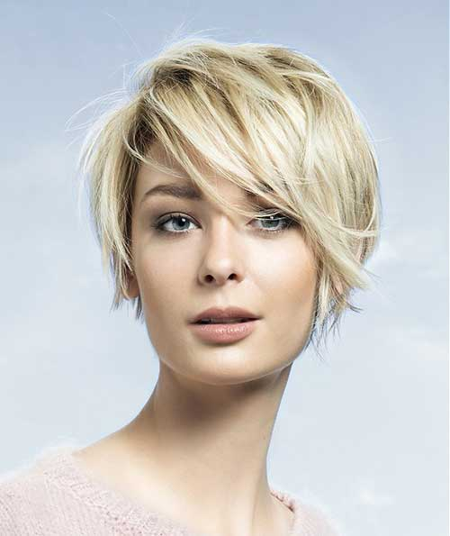 Short Haircut for Women with Round Faces