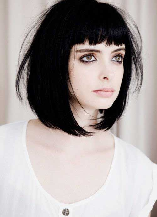 Krysten RitterShort Blunt Haircut with Bangs