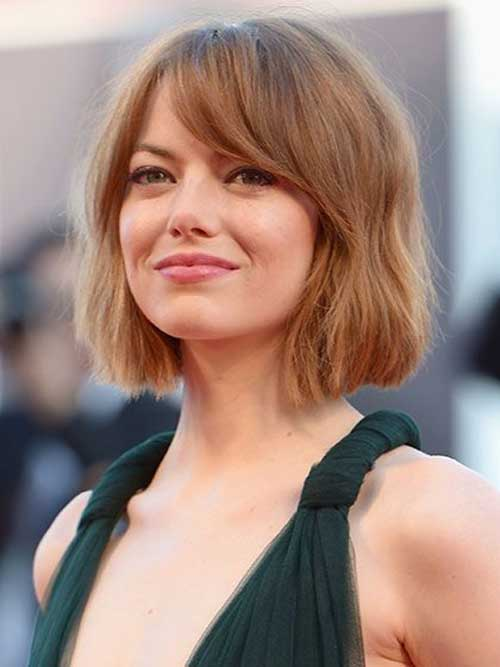 Emma Stone Short Wavy Hair