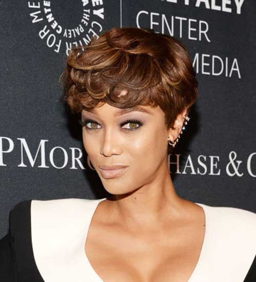 Tyra Banks with Short Hair