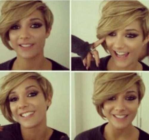 Frankie Sandford with Short Hair