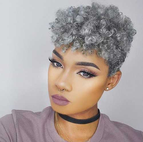 Image result for grey hair natural black women