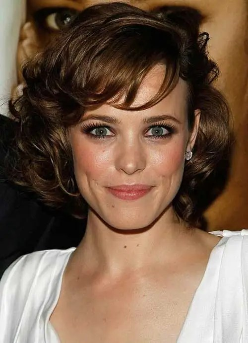 Classy Short Haircut For Curly Hair Oval Face