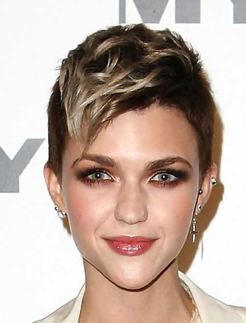 Ruby Rose Pixie Haircut