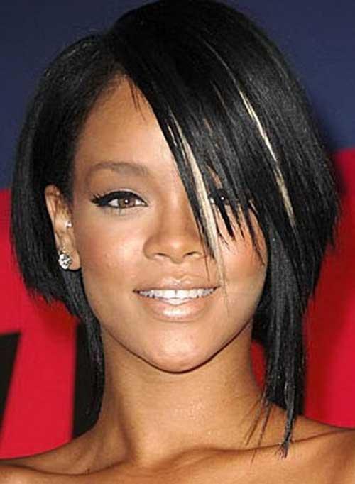 Rihanna Layered Bob Cut Style