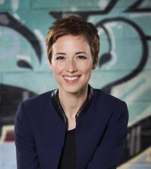 Karine Vanasse Super Short Haircut