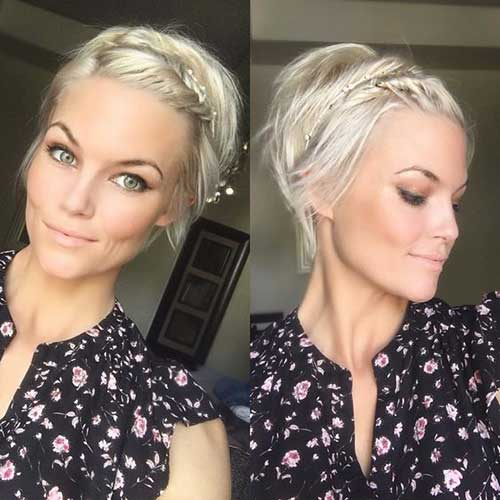 Krissa Fowles Braided Short Hairstyle