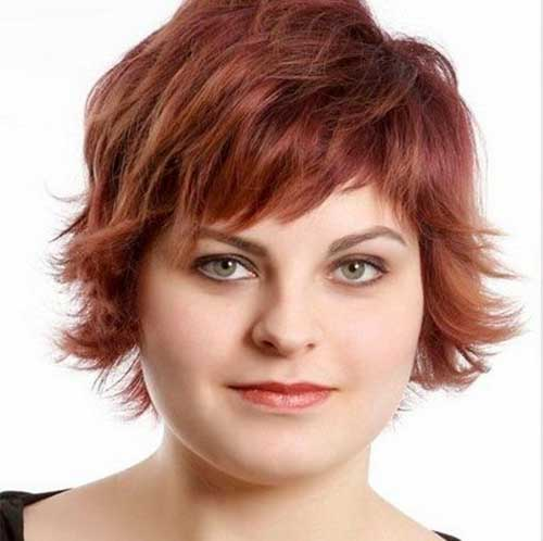 25 Pretty Short Hairstyles For Chubby Round Faces Crazyforus