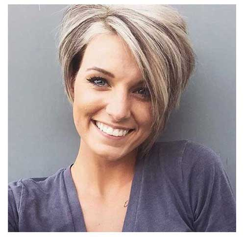 Layered Short Pixie Bob for Round Face
