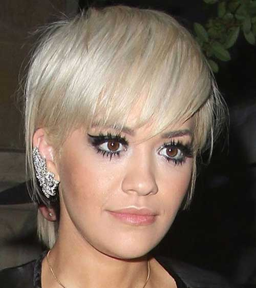 Rita Ora Short Haircut
