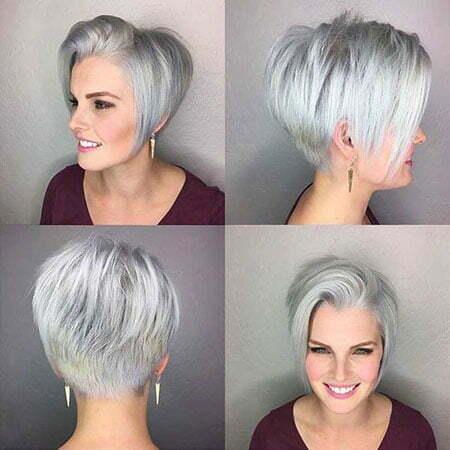 Pixie Choppy Grey Cut