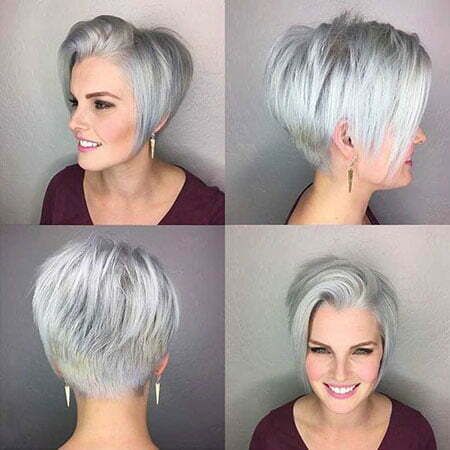 Pixie Choppy Grey Cut