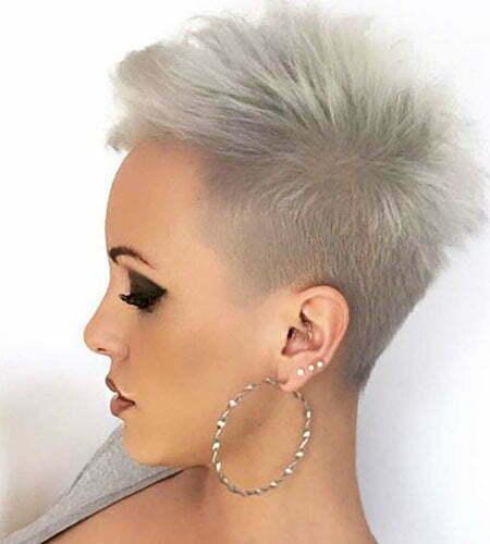 grey short hairstyles
