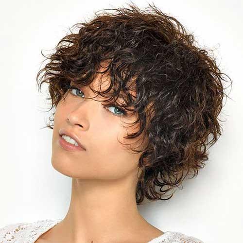 Shaggy Short Curly Hair