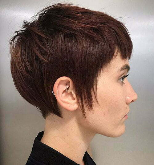 Short Dark Brown Hair-10