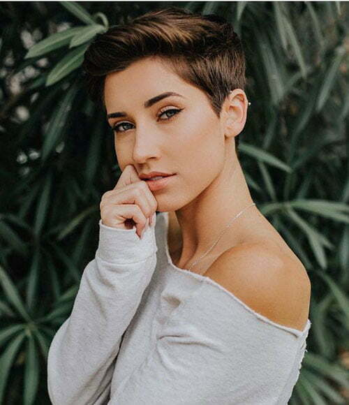 Short Dark Brown Hair-17