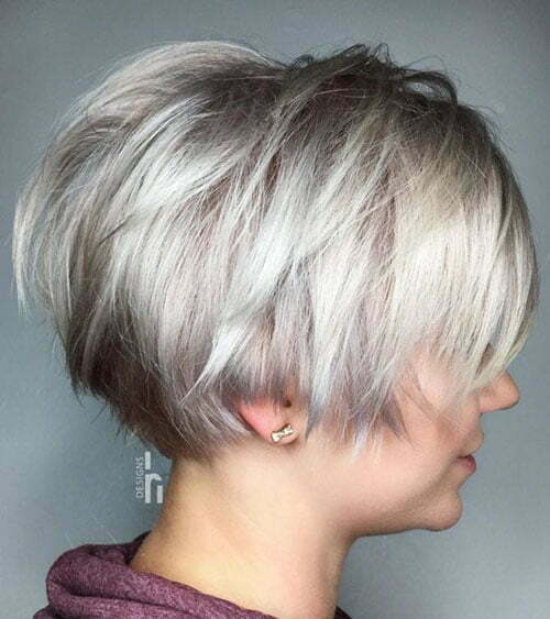 Short Light Ash Blonde Hair