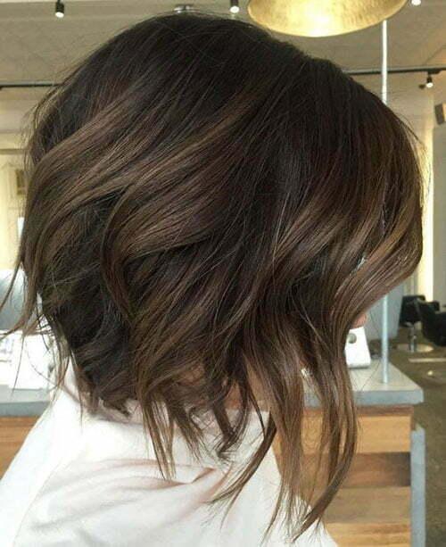 Short Dark Brown Hair-25