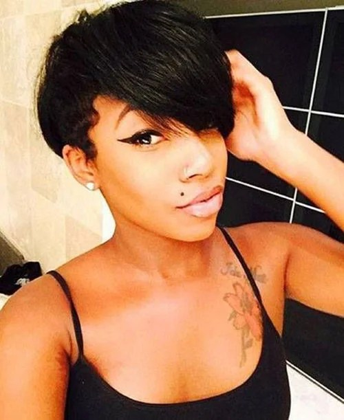 Hairstyles for Short Pixie Hair Black Women