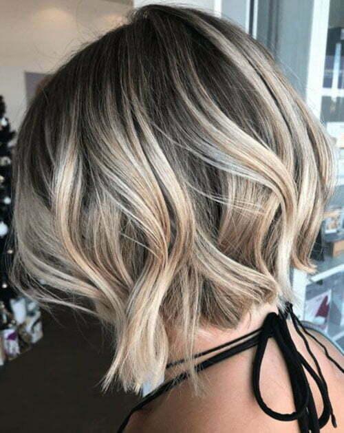 Wavy Bob Hairstyles Color