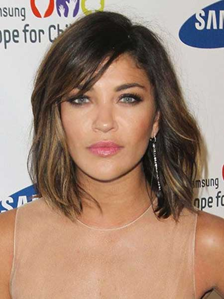 Long Bob Brown Ombre Hairstyle and Color