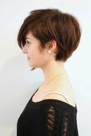 Asymmetrical Very Long Pixie Cut