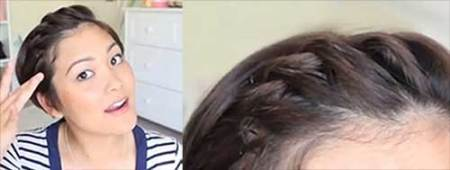 Braided Long Pixie Hairstyle