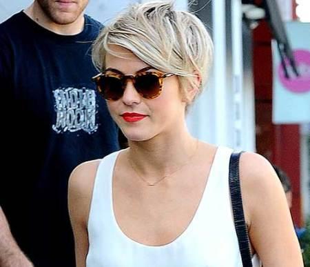 Jullianne Hough Trendy Longer Pixie Cut