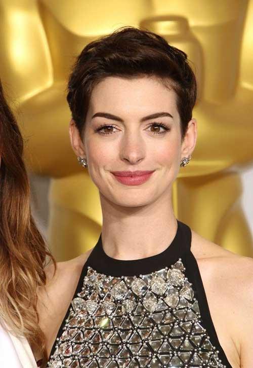 Anne Hathaway Cute Pixie Cut