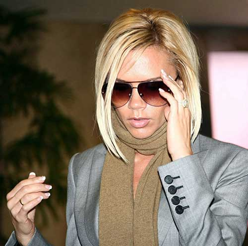 Best Victoria Beckham Casual Blonde Bob Hair