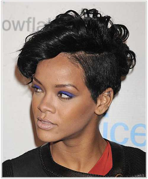 Rihanna Shaved Pixie Cut