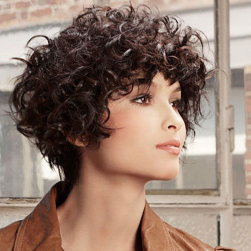 short haircuts for thick curly hair and round faces 16 hairstyles for thick curly hair crazyforus 4657 | Dark Brown Thick Curly Short Hair