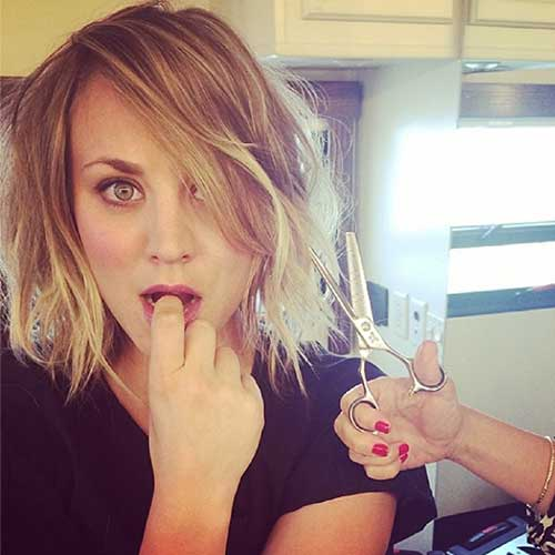 Kaley Cuoco New Short Hair