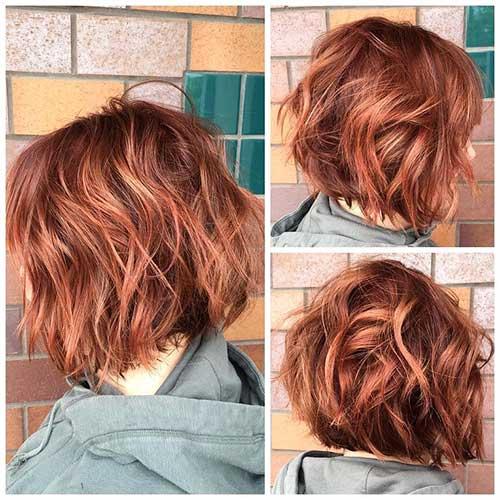 28 Unique Red Colored Short Hairdos Short Hair Color