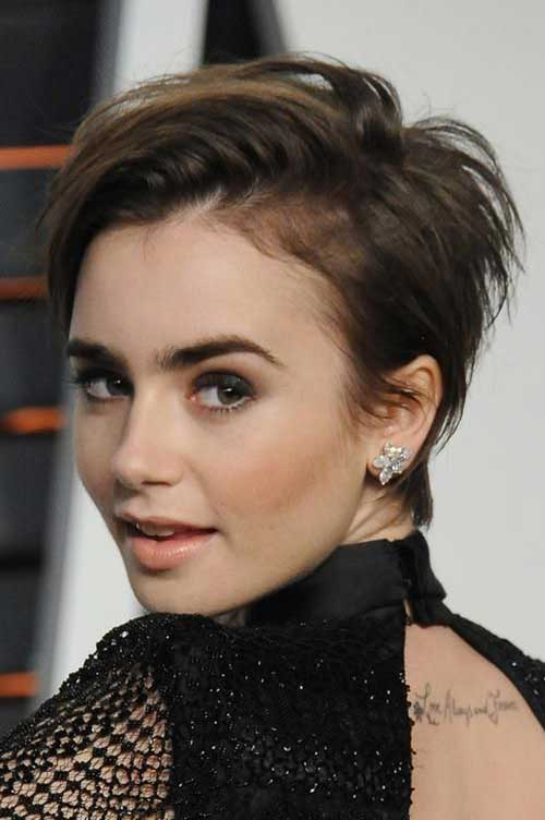 Lily Collins Short Hairstyle