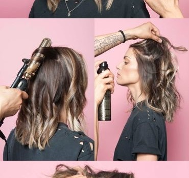 How to Wind Curls Ironing on Short Hair?