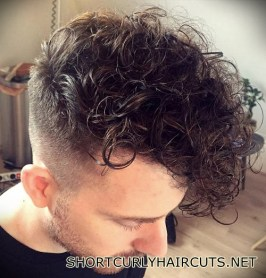 Best Short Curly Haircuts for Men - short curly haircuts men 37