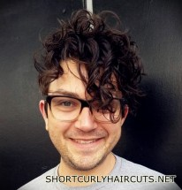 Best Short Curly Haircuts for Men - short curly haircuts men 8