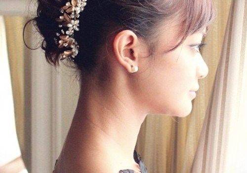 Short Curly Hairstyles for a Wedding - short curly hairstyles wedding 12