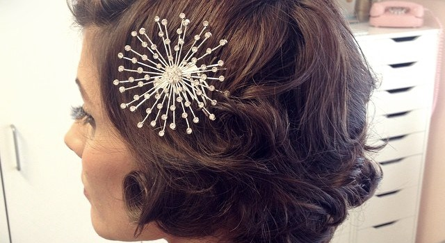 Short Curly Hairstyles for a Wedding