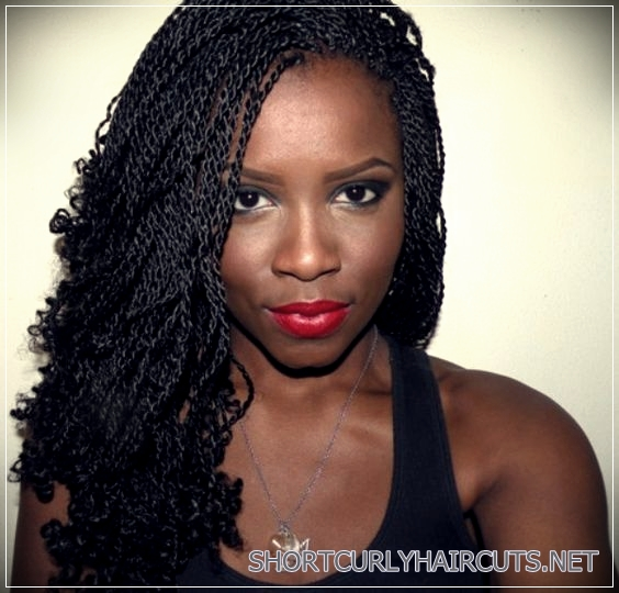Twist Curls Hairstyle for black women