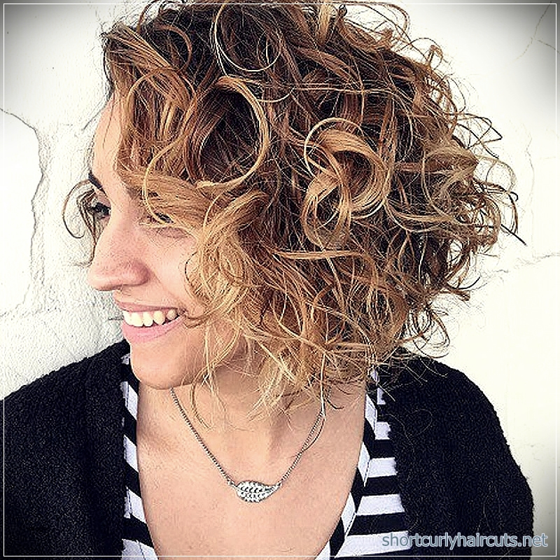 Look Absolutely Different By Trying Out The Curly Short Hairstyles
