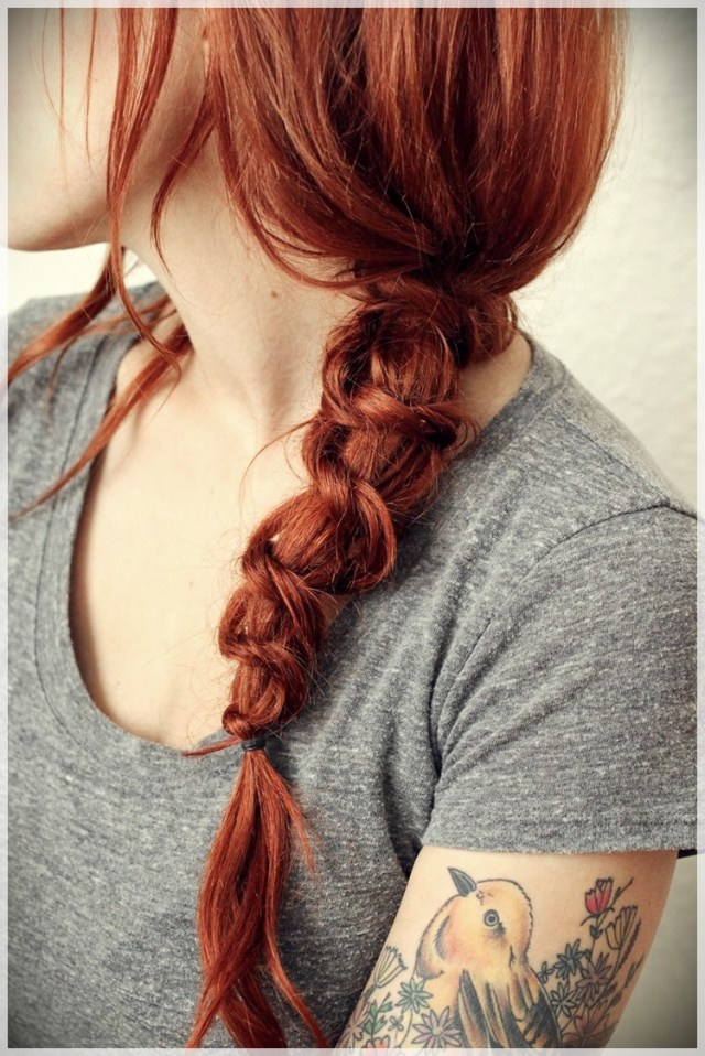 DIY: Fast and easy hairstyles - styling ideas with instructions - DIY fast and easy hairstyles 17