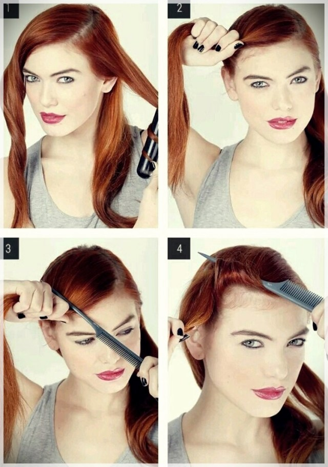 DIY: Fast and easy hairstyles - styling ideas with instructions - DIY fast and easy hairstyles 25