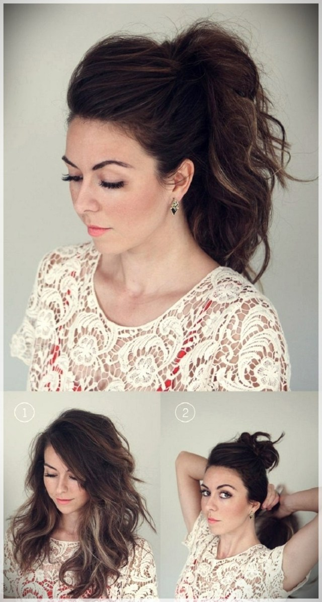 DIY: Fast and easy hairstyles - styling ideas with instructions - DIY fast and easy hairstyles 29