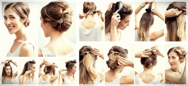 DIY: Fast and easy hairstyles - styling ideas with instructions - DIY fast and easy hairstyles 5