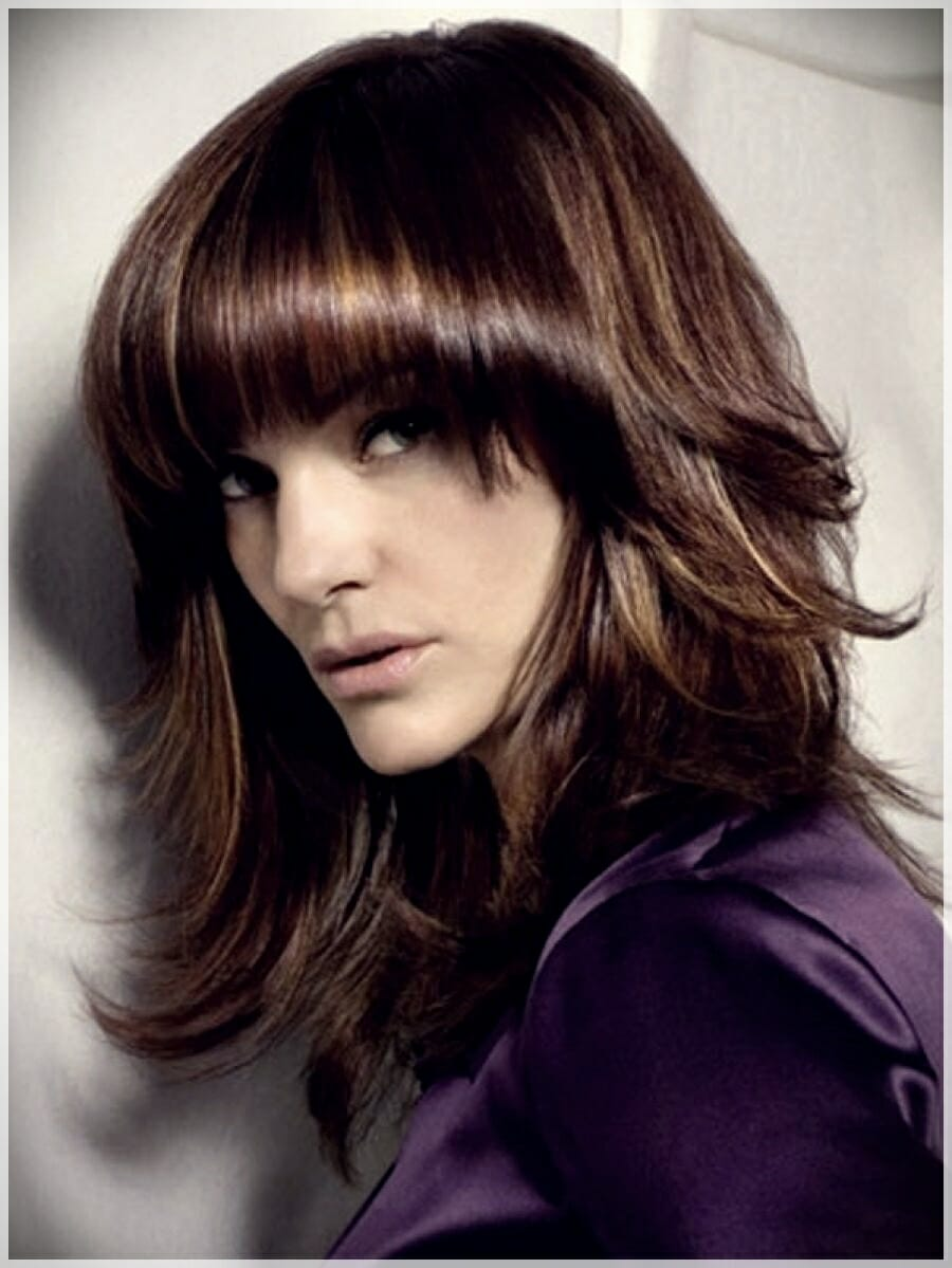 layered haircut with bangs 13 - Why getting bangs will never go out of fashion?