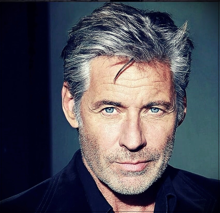 Gray hair man: trends, colors and shades of 2019 - gray hair man 2