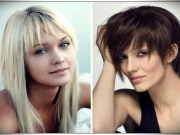Hairstyles with long side bangs